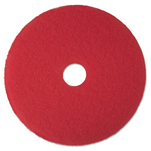 3M Red Buffer Pad 5100, 19'' Floor Buffer, Machine Use (Case of 5) by 3M (Image #2)