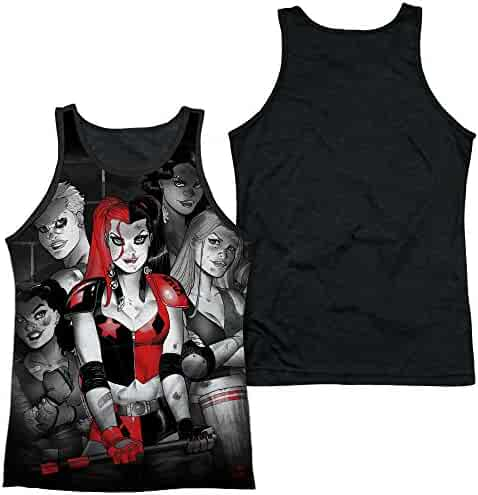 cfd3fd49ecc145 Sub Front Black Back  Batman - Harley Quinn Bad Girls All Over Print Tank