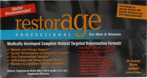 Stuart Consumer Product Labs RestorAGE® Rejuvenation Formula Orange -- 28 Packs - 3PC
