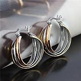 JSEA Stainless Steel Crisscross Hoop Earrings for Sensitive Ears Women