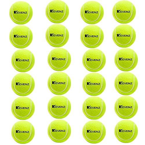 KEVENZ 24-Pack Green Advanced Training Tennis Balls,Practice Ball (Interlocked Wool Fiber) by KEVENZ (Image #1)