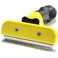 TECHVIDA Shedding Tool, Herramienta de Shedding Cepillo para Mascotas Perros & Gato Peine de Limpieza Cortador de Nudo…