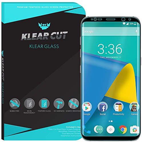 Galaxy S8 Plus Screen Protector (S8+)(Black), Klear Cut KlearGlass Ballistic Tempered Glass Screen Protector for Galaxy S8 Plus HD Clear 9H Hardness Anti-Bubble Shield