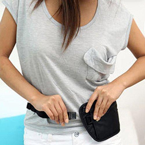 Fashion Unisex Pack Gurt Taille Tasche Reisen Radfahren Sport Wandern Gürtel Handtasche Tasche–Schwarz amesii schwarz