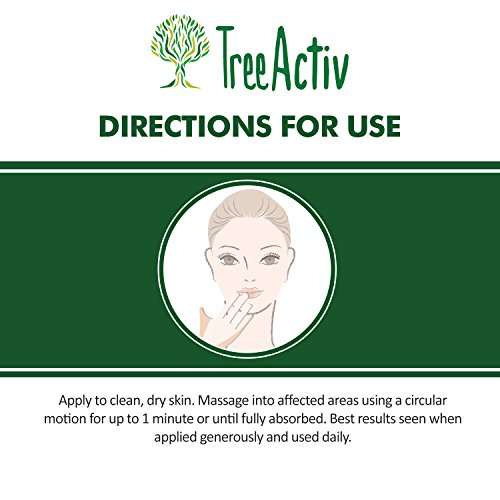 51Jja V0QPL - TreeActiv Crepey Skin Repair Treatment, Anti-Aging, Anti-Wrinkle, Organic Ingredients for Face, Neck, Chest, Legs & Arms, Hyaluronic Acid, Alpha Hydroxy Fruit Acids, Honey, Shea, Castor