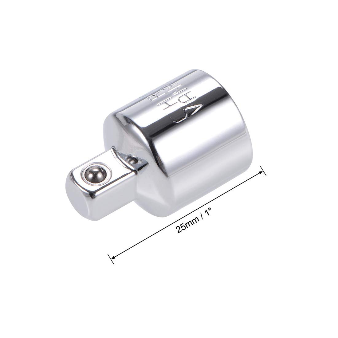 uxcell Socket Adapter and Reducer 1//4-Inch Female To 1//2-Inch Male Cr-V Steel 2 Pcs
