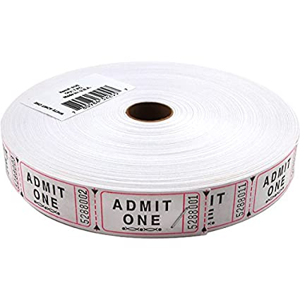 amazon com roll of 2000 white carnival raffle event door prize