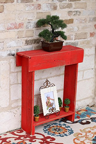 Red Skinny Wall Table For Sale