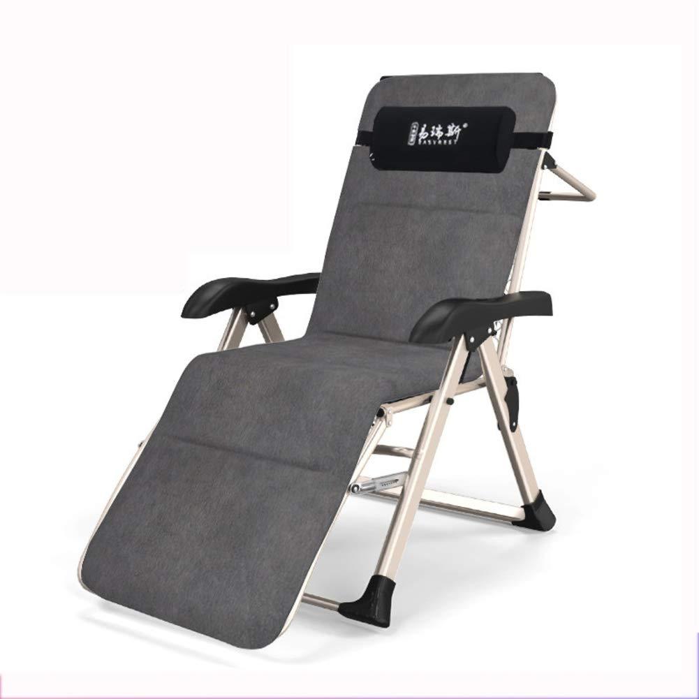 Inclinable Chaise Lounge Chaise Patio Plein air Chaise Longue Jardin Plage Office Camping Sieste Lit Retour Chaise-E 106x51x51cm VIVOCC R/églable Z/éro gravit/é 42x20x20inch