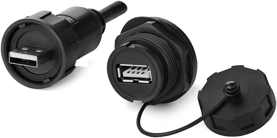CHENZHIQIANG Connectors Computer Cable Retractable USB 2.0 AM to USB AF Cable 75cm Length Black