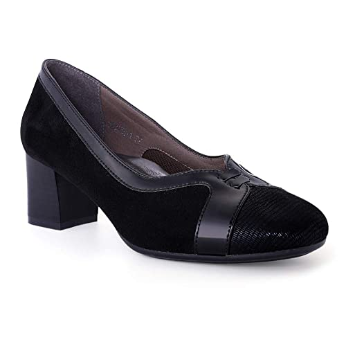 schwarze Pumps Schleife Schuhe schwarz Größe 41 *WIE NEU!