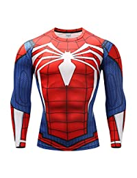 Ampparels Superhero Shirt Compression Sports Shirt Fitness Men Base Layer