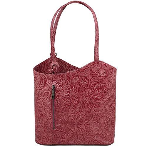 Tuscany De Al Rojo Mujer Tl141627 Leather Hombro Compact Para Cuero Bolso qnrr1xF