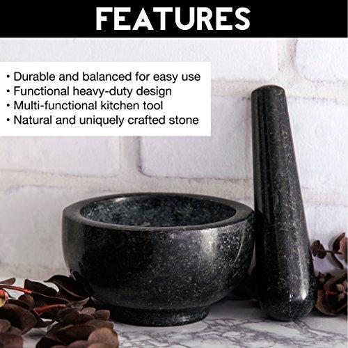 Zenware Heavyweight Mortar and Pestle - Black Granite by Zenware (Image #2)
