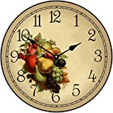 The Big Clock Store Cornicopia Wall Clock, Available in 8 sizes, Most Sizes Ship 2-3 days, Whisper Quiet. For Sale