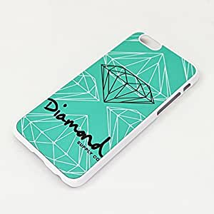 Diamond Supply co HD image Plastic case cover for Iphone 6 (4.7) case White shell nice packaged by LINDAS