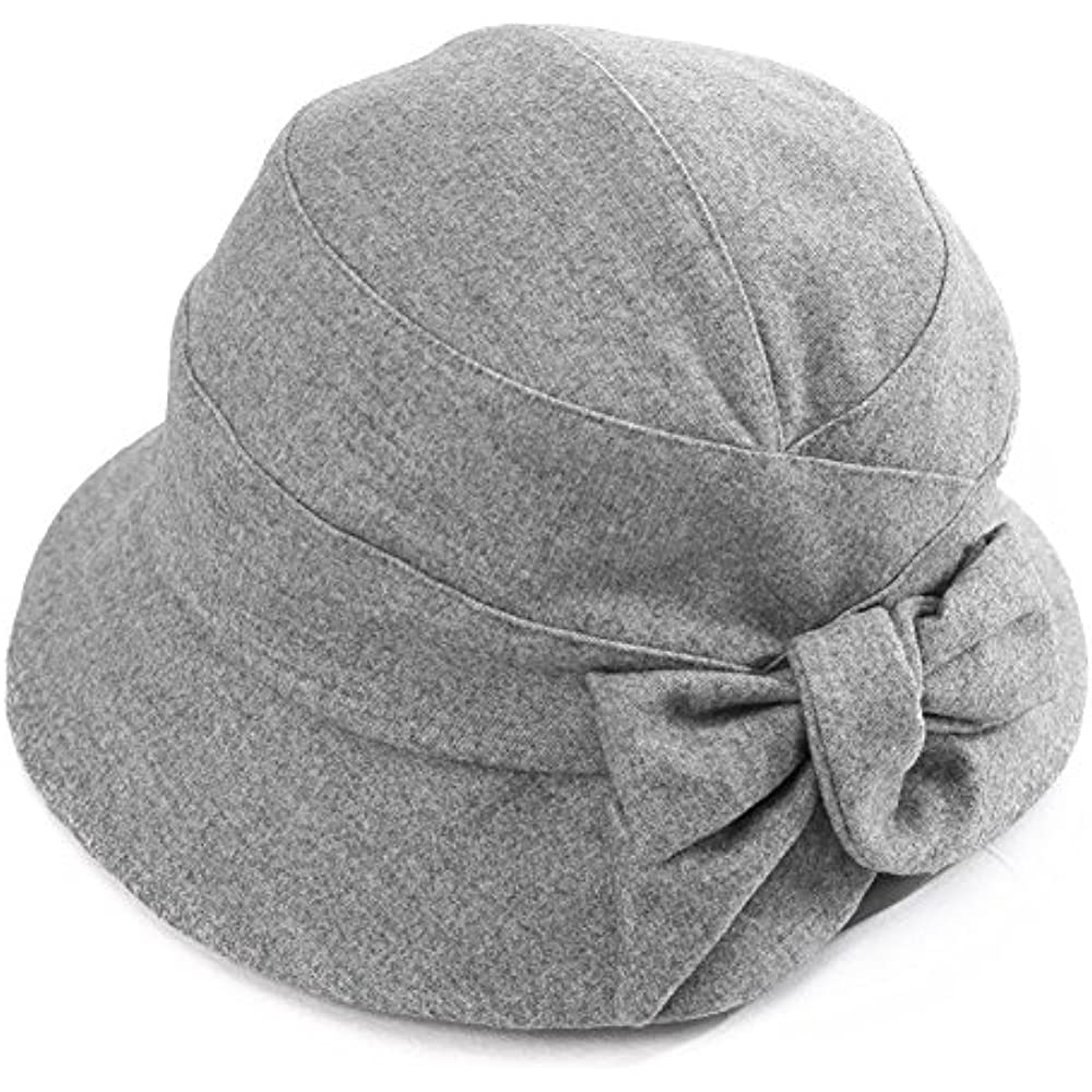 f3cc8498e98 Details about Womens Cloche Hats Winter Ladies 1920s Vintage Derby Church  Bowler Bucket Fall