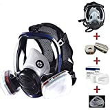 15 in 1 Reusable full face Cover,Full Face Respirator Widely Used in Organic Gas,Paint Sprayer, Chemical,Woodworking,Dust Protector