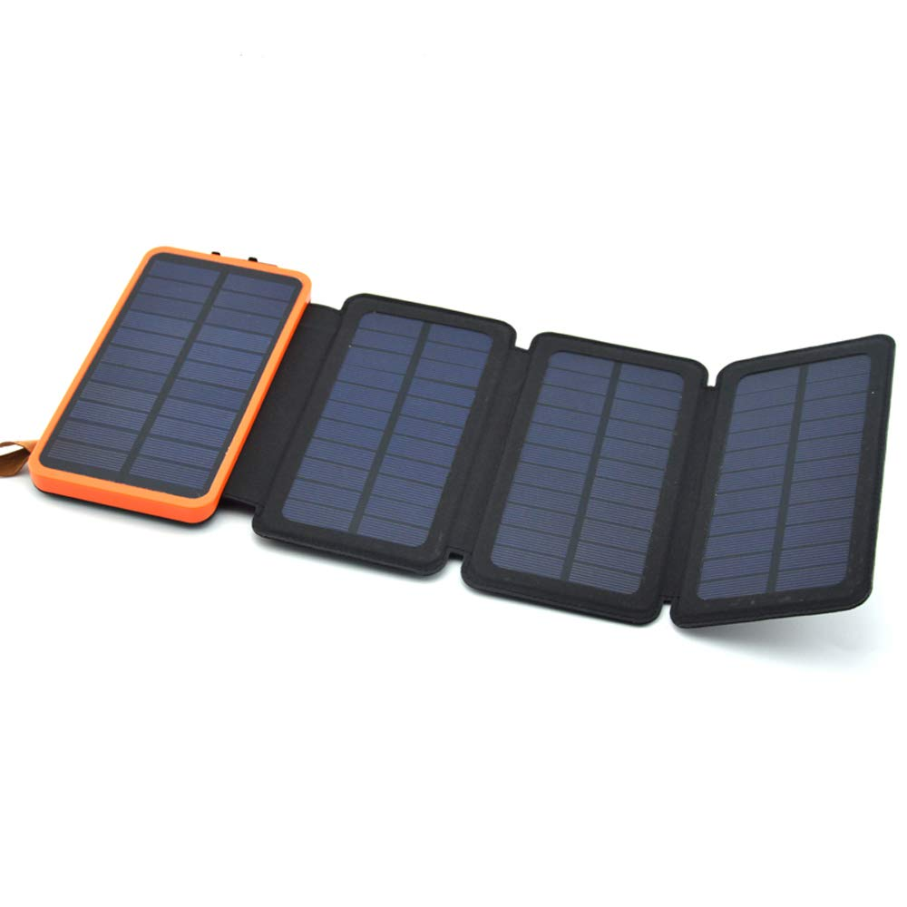 AllSeasons 100% Full Charging by Sunlight 20000 mAH, 5W Solar Power Bank Portable with USB Ideal for Cell Phones, iPad Battery, Lantern, Backpacking, Camping, Hiking, Fishing (Orange)