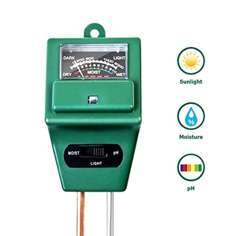 FOONEE 3 en 1 medidor de Suelo, medidor de pH de Suelo, Prueba de