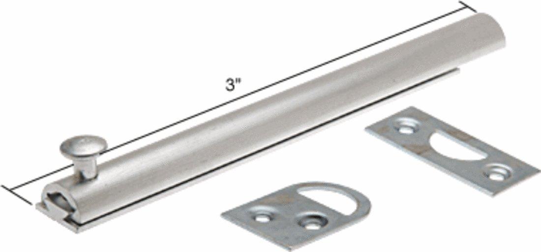 Slide Bolt, 3'' Long, Aluminum