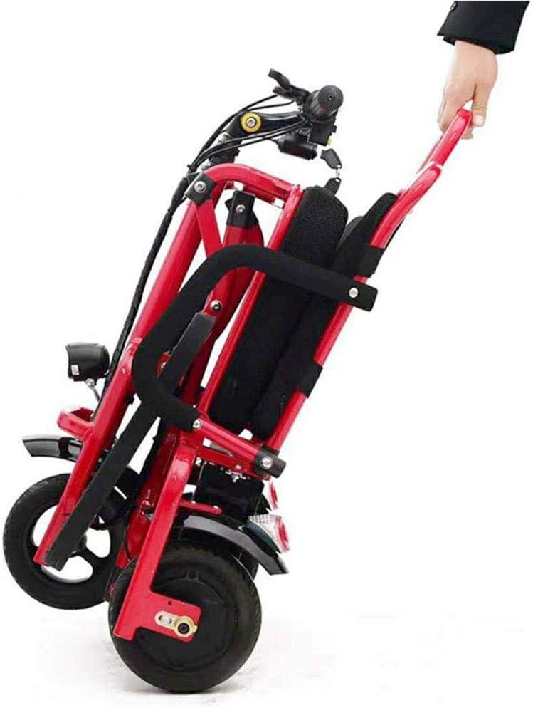 CYGGL Mini Triciclo eléctrico Plegable, Hombre Viejo y Scooter deshabilitado Rueda Trasera de 10 Pulgadas Batería de Litio -48V12ah Motor de 350W - Kilometraje máximo 50 km - Carga 100 kg