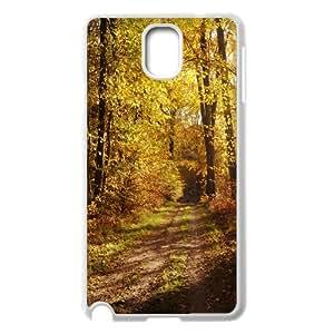 {Funny Series} Samsung Galaxy Note 3 Case Forest Path 5, Unique Design by Rock Case Okaycosama - White