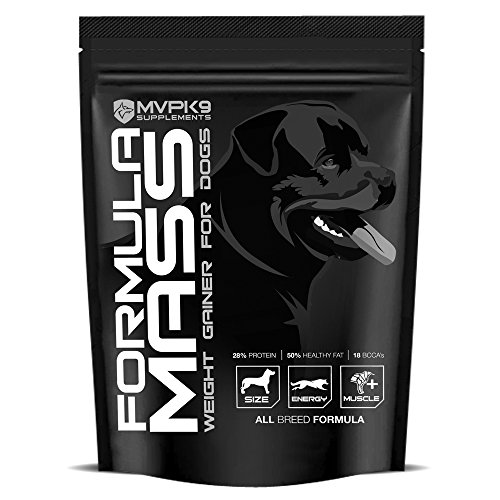 Formula Mass Weight Gainer for Dogs (45 Servings) Made in the USA - Helps Increase Weight on Skinny Dogs