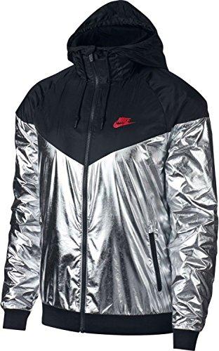Nsw Pour black red Windrunner Metallic Homme Nike Ssilver Veste M 1q7w15U