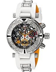 Invicta Womens Disney Limited Edition Quartz Stainless Steel and Silicone Casual Watch, Color:White (Model:...