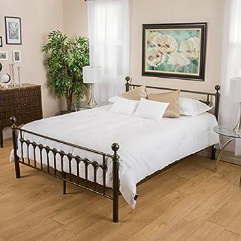 Amazoncom Bradford King Size Dark Copper Gold Bed Frame Kitchen