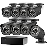 Zmodo 8 Pack FULL HD 1080P Outdoor sPoE Security Camera w/8CH sPoE Repeater for Power & Data Transmission, Remote Monitoring, Customizable Motion Detection (NVR not Included)