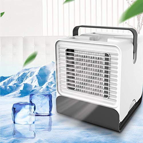 YLJYJ Mini Air Cooler,Humidifier&Purifier,Portable Negative Ion Air Conditioning Fan USB for Office Home Outdoor Travel, Colors 2
