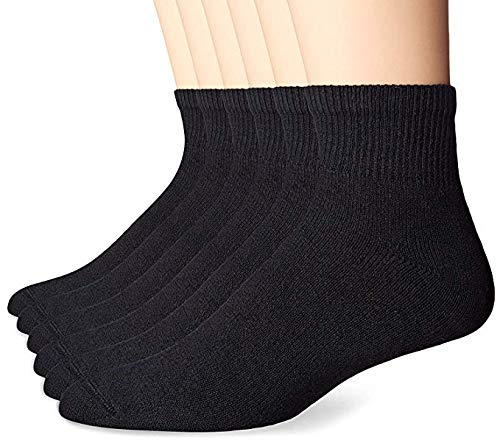 c45908df6 (Pack of 6 Pairs) Boys & Girls Cotton Plain Black Ankle Length School Socks:  Amazon.in: Clothing & Accessories