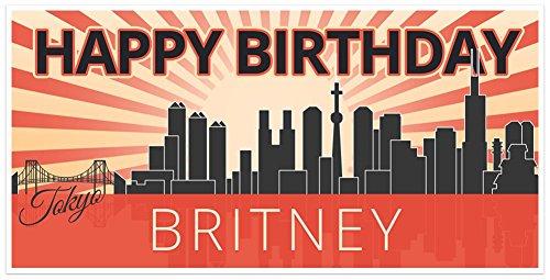 Tokyo Birthday Banner Personalized Party - Birthday Tokyo