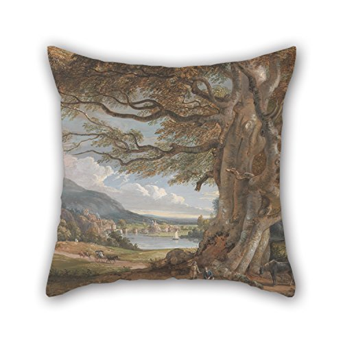 [Oil Painting Paul Sandby - Bridgenorth, Shropshire Pillow Cases 18 X 18 Inches / 45 By 45 Cm Best Choice For Bar Seat,him,car,family,teens Boys,dining Room With Both] (Red Crayon Tank Dress Costume)