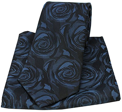 Tie Navy Square Pocket Soprano Rose Silk and Wedding 1Ind6wH