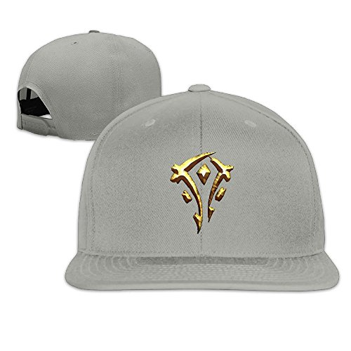 BestSeller World Of Warcraft The Horde Symbol Snapback Adjustable Flat Baseball Cap/Hat For Unisex