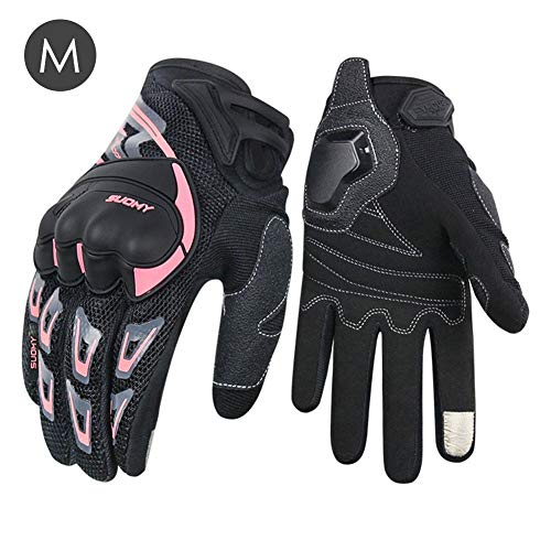 fineshelf 2019 New Summer Full Finger Gloves,Motorcycle Riding Gloves,Universal Mesh Breathable Safe Touch Screen Cycling Gloves Unisex for Cycling, Outdoor Sports ()