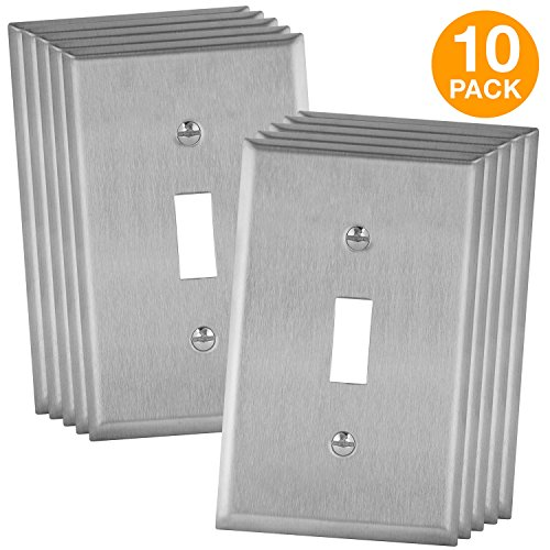 ENERLITES Toggle Light Switch Metal Wall Plate, Corrosive Resistant, Size 1-Gang 4.50