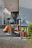 home + Laterne aus Edelstahl – Rostfrei – verschiedenen Größen: klein – XL - 5