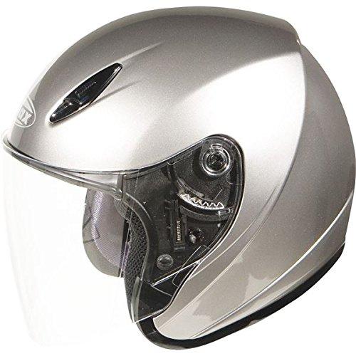 GMax GM17 Metallic Silver Open Face Helmet - Small