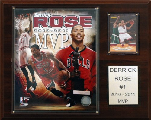 NBA Derrick Rose 2010-11 NBA MVP Chicago Bulls Player Plaque