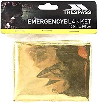 Trespass Foil X, Manta de Emergencia Unisex, 150 x 208 cm, Dorado