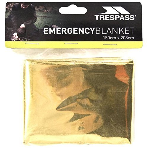 Trespass Unisex Foil X Emergency Survival Blanket Not Applicable Emergency / Thermal / Safety / Survival / First Aid Blanket 150cm x 208cm Multicolour UUACMIK10011_NOAEACH