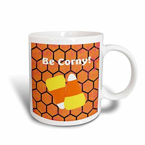 - 3dRose mug_157895_1 Candy Corn, Be Corny Ceramic Mug, 11-Ounce