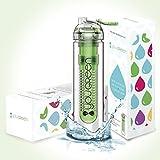 Fruit Infuser Water Bottle YouGreen – The Best Infuser Water Bottle for Sports – 27oz BPA FREE Water Bottle Fruit Infuser – Fruit Infused Water Bottle with FREE Bonus Recipe eBook