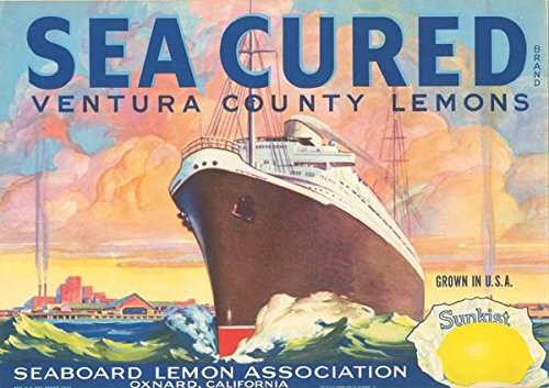 Fruit Crate Label - Sea Cured -