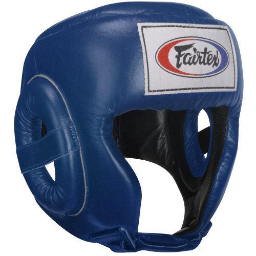 Fairtex Competition Headguard, Blue, Large