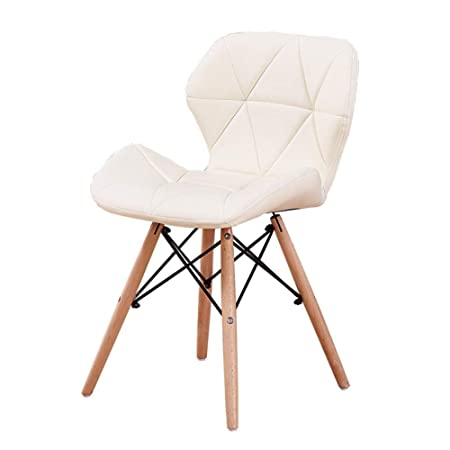 Eames Replica Faux Leather Dining Chair/Cafe Chair/Side Chair/Accent Chair (Off-White) Color by Finch Fox